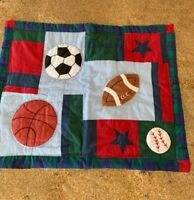 "Quilted Sports Pillow Sham Soccer Football Baseball Basketball 20"" X 26"""