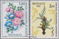 Monaco 1496-1497 (kompl.Ausg.) postfrisch 1981 Floristen