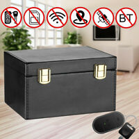 🔥 Car Keys Signal Blocker Storage Box Leather Faraday RFID Signal Blocker