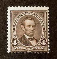 Scott US # 254 - 1894 Lincoln, 4 Cents; Mint Never Hinged; OG; CV=$600
