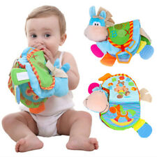 New Baby Cute Donkey Animal Cloth Book Teether Toys Education Soft Cloth Books