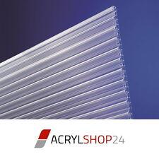 Polycarbonat Stegplatten Doppelstegplatten Hohlkammer 16mm X-Struktur klar