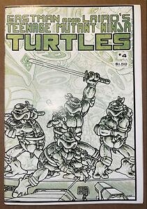 TEENAGE MUTANT NINJA TURTLES #4 High Grade 1985 1ST Print