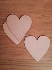 3x wooden laser cut mdf heart 150 mm  blank