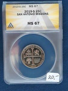 2019-S MS67 San Antonio Missions Quarter