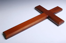 "Simple and Elegant 15 1/2"" Wooden Wood Wall Cross for Church and Home  - Type L"