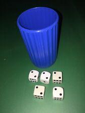 Yahtzee Replacement Dice Cup Shaker Blue Plastic Parts