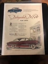 1953 Distinguished DeSoto Ad - Saturday Evening Post