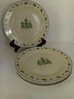 Merry Brite Christmas Set/4 Dinner Plates Holiday Dinnerware