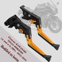 CNC Folding Brake Clutch Levers for KAWASAKI NINJA Z300 2013-2018 Dirt Pit Bike