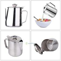 Stainless Steel Espresso Coffee Foam Cup Pitcher Craft Latte Milk Frothing Jug