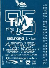 TIME Rave Flyer Flyers 11/2/95 A6 Melbourne Metro Nightclub Australia