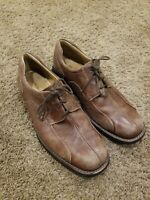 Johnston Murphy SHULER 20-7223 Mens Brown Leather Bicycle Toe Shoes Size 9 M