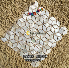 diamond pattern natural mother of pearl shell mosaic backsplash bathroom tile