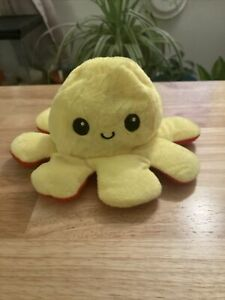 New Red Yellow  Reversible Flip Octopus Plush Toy Soft US Shipping Kids Emotions