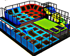 3,000 sqft Commercial Trampoline Park Dodgeball Climb Gym Inflatable We Finance