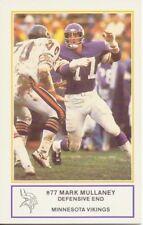1983 Minnesota Vikings Police Mark Mullaney Football Card Colorado State Rams