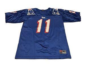 VINTAGE Nike Drew BLEDSOE #11 New England PATRIOTS NFL MENS JERSEY XL