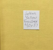 """Vintage Flour Sack Solid Color Lovely Golden Yellow approx 38"""" x 35"""""""