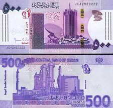 Sudan 500 Pounds 2019, UNC But AU, P-NEW DESIGN, Prefix JC