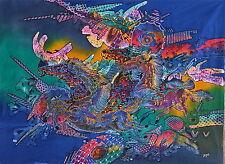 CAVALLO ASTRATTO Pittura Batik art.
