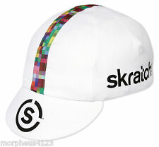 SKRATCH LABS WHITE TEAM CYCLING CAP NEW BIKE RIDE HAT **