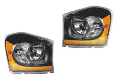 2004-2005 Dodge Durango New Euro Black Performance Headlight Assembly Pair