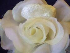 Vintage Millinery Flower Yellow Rose Velvet Organdy G41