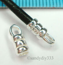 10x STERLING SILVER 2mm LEATHER CORD CRIMP END CAP #1262A