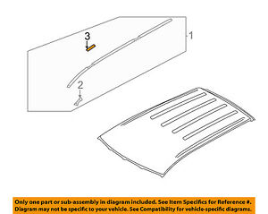 MITSUBISHI OEM 10-15 Lancer Roof-Drip Molding Cover Right 7400A158