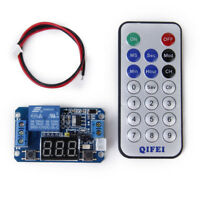 12V LED Digital Programmable Timer Relay Module + IR Remote Control System