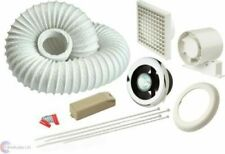 MANROSE VSL100TC BATHROOM EXTRACTOR SHOWER FAN LIGHT KIT TIMER CHROME