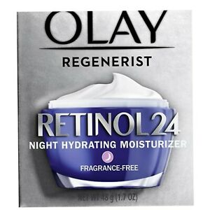 Olay Regenerist Retinol 24 Night Moisturizer Fragrance-Free 1.7 oz  New In Box