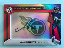 2019 AJ BROWN Panini ELEMENTS Neon Signs /25 Auto Rookie RC