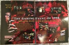 Resident Evil 2 Poster Ad Print Playstation