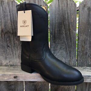 Ariat Ladies Women's Performance Heritage Roper Western Boots Black