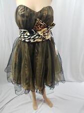 WOMEN CINDY MULTI-COLOR SZ XL MINI  COCKTAIL CORSET STRAPLES PARTY PROM DRESS