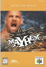 Nintendo 64 WCW Mayhem Instruction Booklet Manual