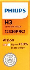 Philips Vision H3 12V 55W PK22s Car Headlight Bulb 12336PRC1 69534560 (Single)