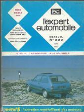 ETUDE TECHNIQUE AUTO. FORD FIESTA 1985 Diesel