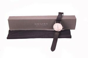 NOMOS Glashütte TANGENTE Herren Armbanduhr Handaufzug B/S/H 40 Jahre Ø 35 mm