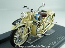 PEUGEOT 55GL 1951 MOTORBIKE MODEL 1/24TH SCALE CREAM PACKAGED ISSUE IXO K867Q~#~