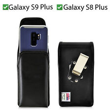 Galaxy S9 Plus S8+ Holster Metal Belt Clip Case Pouch Leather Vert Turtleback