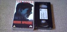 MISSION IMPOSSIBLE UK PAL VHS VIDEO 1996 Tom Cruise Jean Reno Brian De Palma