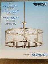 Kichler Marita Brushed Nickel Transitional Clear Glass Cylinder Pendant Light