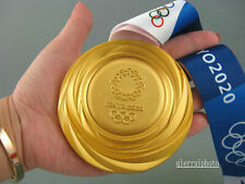 2020 Tokyo Olympic Gold Medal 1:1 with Silk Ribbons & Display