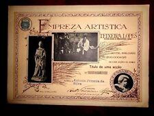 Empreza Artistica Teixeira Lopes share certificate Porto Portugal 1922