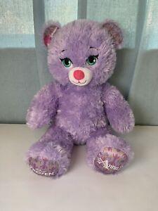 Build a Bear Frozen Princess Anna Purple Sparkle Disney Stuffed Animal Plush Dol