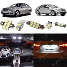 16 White LED lights interior package kit for 2008 &Up Mercedes C-Class +Tool ZS2