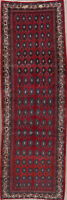 Vintage All-Over Geometric Bidjar Oriental Handmade Runner Rug Wool Carpet 3x10